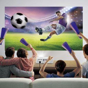 Projektion von Fußballspielen